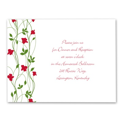 Climbing Vines - Barn Red - Reception Card