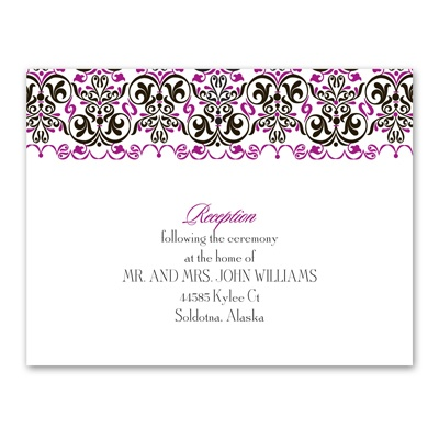 Filigree Whimsy - Reception Card
