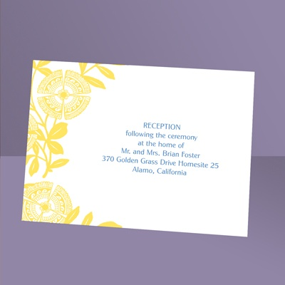 Modern Floral - Canary - Reception Card