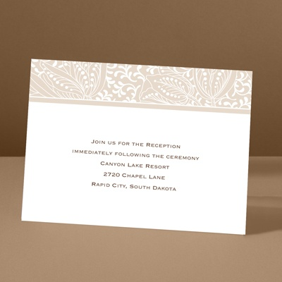 Blossoming Beauty - Latte - Reception Card