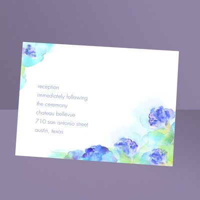Beauty in Blue - Reception Card