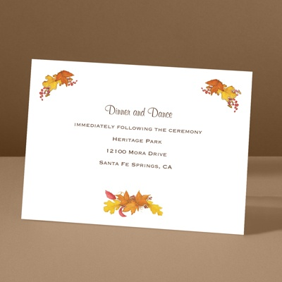Fall Foliage - Reception Card