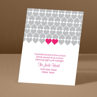 Sweet Hearts - Lipstick - Reception Card
