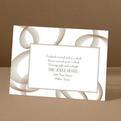 Beautifully Modern - Latte - Reception Card