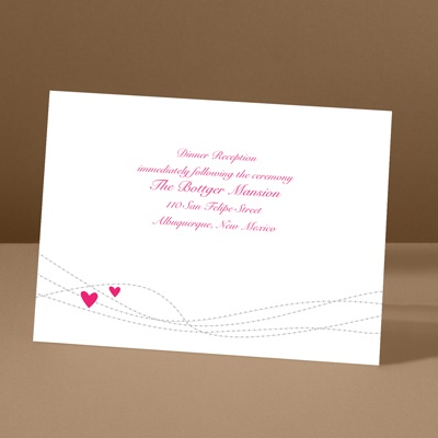 Heartstrings - Lipstick - Reception Card