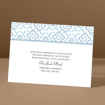 Antique Details - Ocean - Reception Card