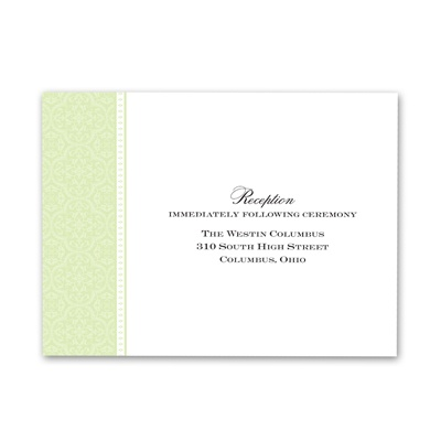 Sweet Sophistication - Pear - Reception Card
