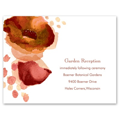 Sultry Blooms - Tango - Reception Card