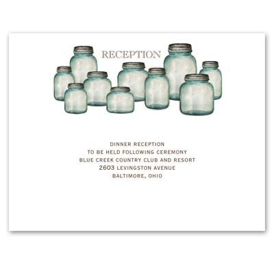 Canning Jars - Reception Card