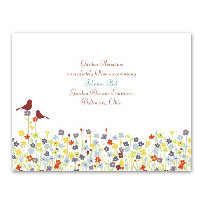 Love Springs - Reception Card