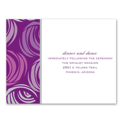 Funky Flowers - Grapevine - Reception Card
