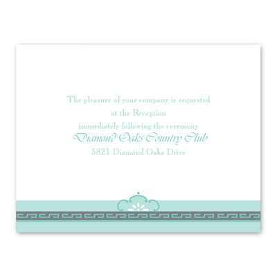 Charming Frame - Reception Card