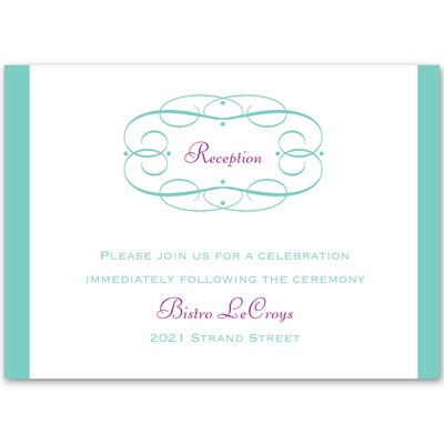Swirl Frame - Reception Card
