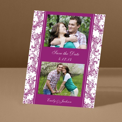 Enchanted Border - Amethyst - Save the Date Card