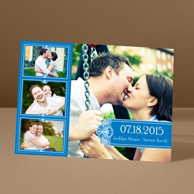 Photo Delight - Blue - Photo Save the Date Card