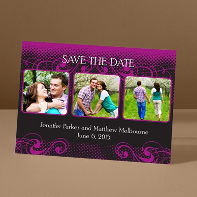 Photos and Flourishes - Amethyst - Photo Save the Date Card