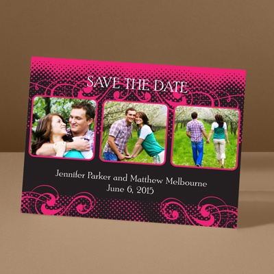Photos and Flourishes - Lipstick - Photo Save the Date Card