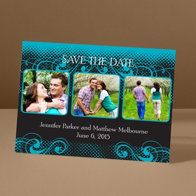 Photos and Flourishes - Palm - Photo Save the Date Card