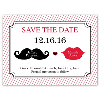 Kissable - Save the Date Card