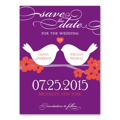 Beak to Beak - Grapevine - Save the Date Card