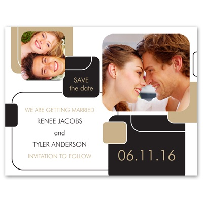 Building Blocks - Photo Save the Date Card