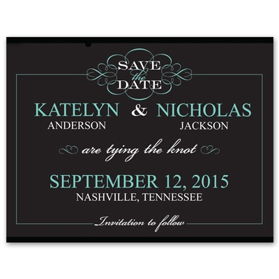 Flourishing Typography - Photo Save the Date Card