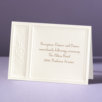 Majestic Flowers - Reception Card