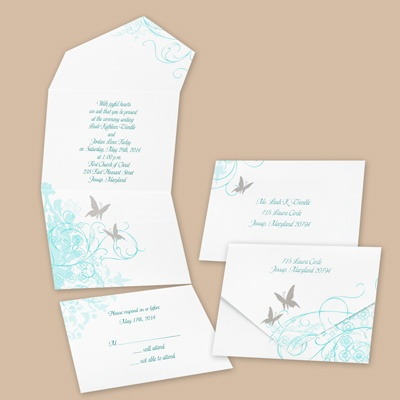 Butterfly - Seal and Send Invitation