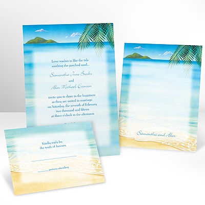 Ocean View - Invitation with Free Response Card