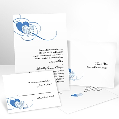 Close at Heart - Ocean - Invitation with Free Response Card