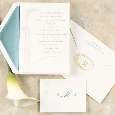 Calla Lily Flair - Invitation