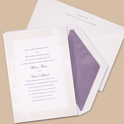Satin Calla Lilies - Invitation
