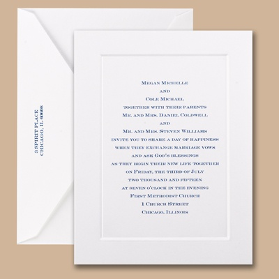 Touch of Sophistication - Small Invitation