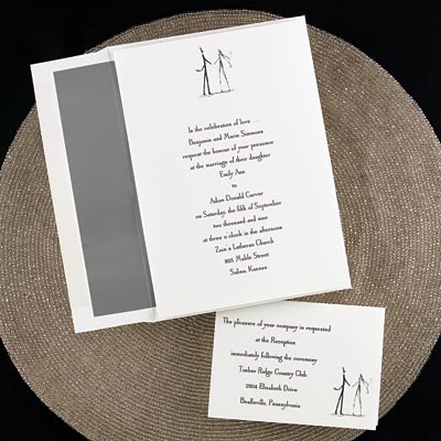 Contemporary Couple - Invitation