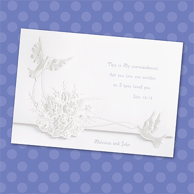 Shimmering Doves - Invitation
