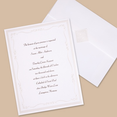Subtle Accents - Invitation