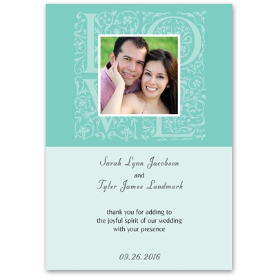Lagoon Love - Photo Invitation