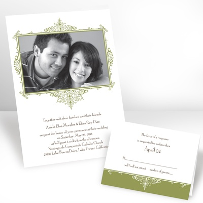 Kiwi Flourish Frame - Photo Invitation