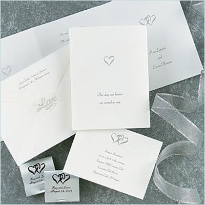 Silver Hearts - Invitation