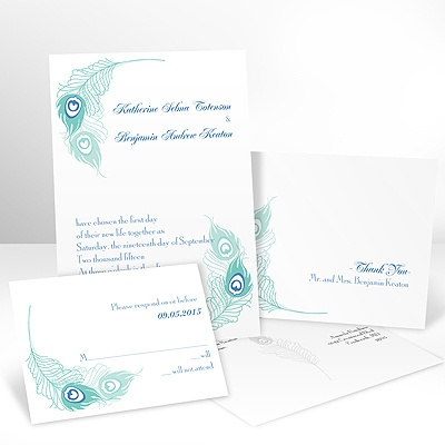 Feather Fancy - Invitation with Free Response Card