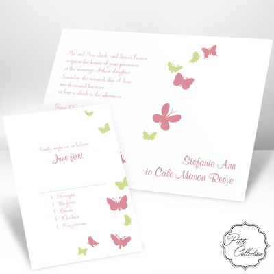 Butterflies in Flight - Petal - Petite Invitation