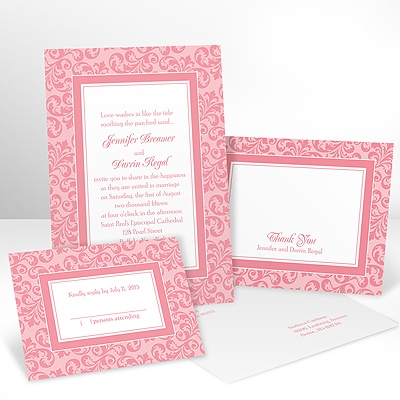 Filigree Frame - Petal - Invitation with Free Response Card