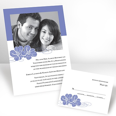 Hydrangea Pair of Flowers - Photo Invitation