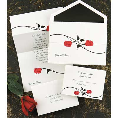 Red Roses - Invitation
