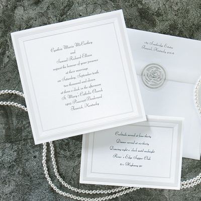 Pearlized Borders - Invitation