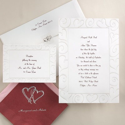 Loving Swirls - Invitation