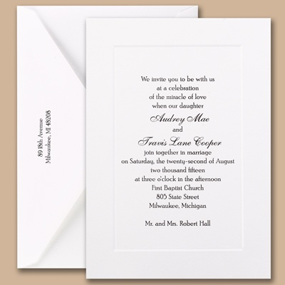 Going Twice - Large Invitation