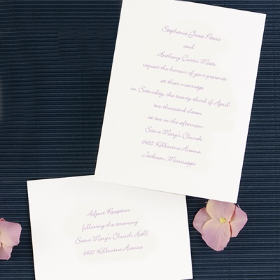 Pure Tradition in White - Invitation