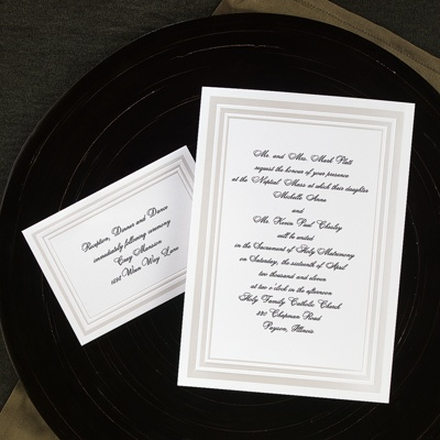 Elegant Pearl Borders - Invitation