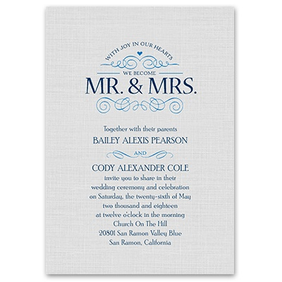 ... Wedding Invitations · Grey Wedding Invitations · Joyful Heart